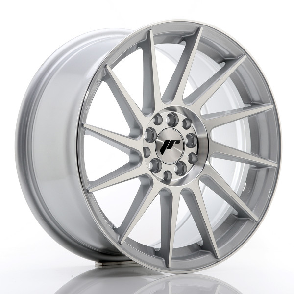 JR Wheels JR22 17x8 ET35 4x100/114 Silver Machined Face