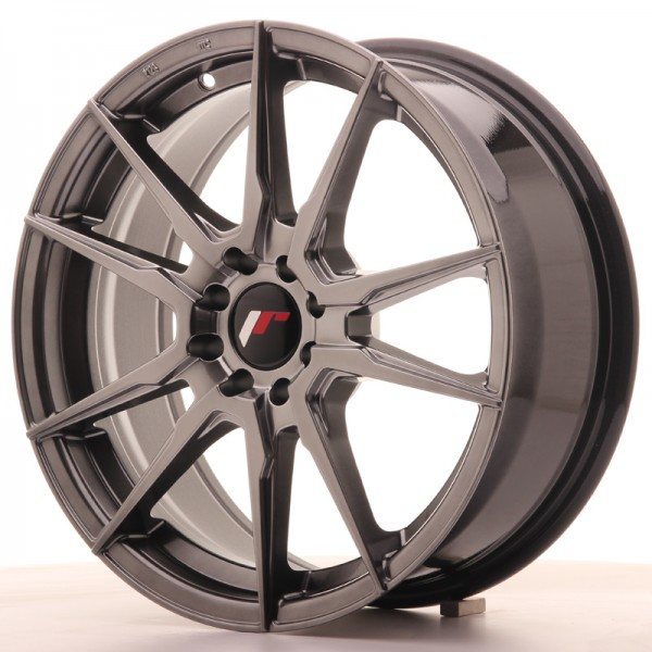 JR Wheels JR21 17x7 ET40 5x108/112 Hyper Black