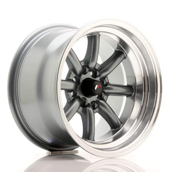 JR Wheels JR19 15x9 ET-13 4x100/114 Gun Metal w/Machined Lip