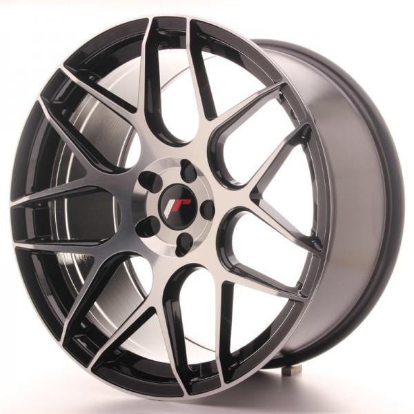 JR Wheels JR18 20x10 ET20-45 5H BLANK Gloss Black Machined Face