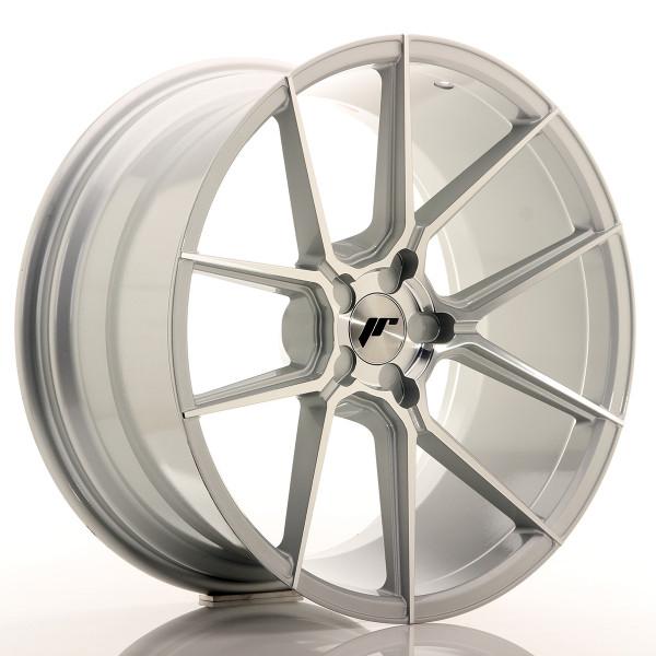 JR Wheels JR30 20x10 ET20-40 5H BLANK Silver Machined Face
