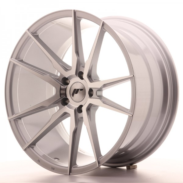 JR Wheels JR21 20x10 ET30 5x112 Silver Machined Face