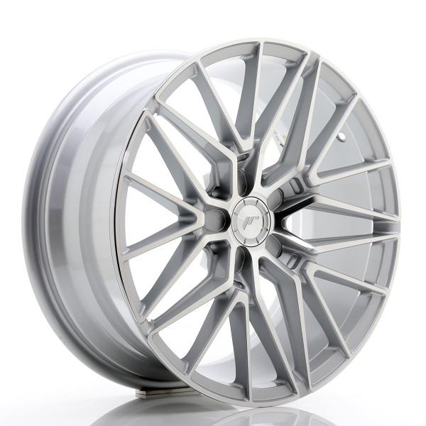 JR Wheels JR38 18x8 ET20-42 5H BLANK Silver Machined Face