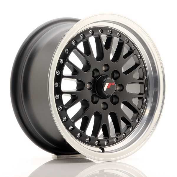 JR Wheels JR10 15x7 ET30 4x100/108 Matt Black w/Machined Lip