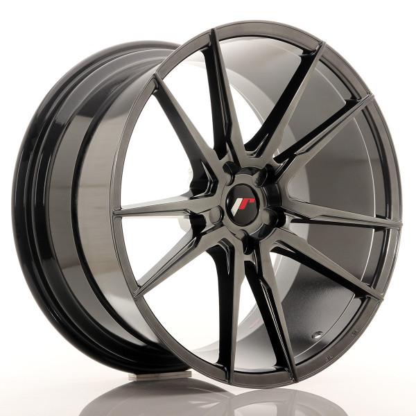JR Wheels JR21 21x11 ET15-55 5H BLANK Hyper Black