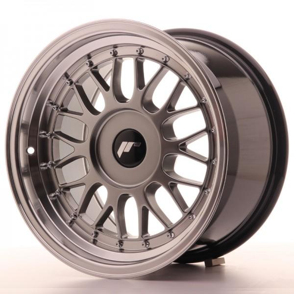 JR Wheels JR23 16x9 ET20-35 BLANK Hyper Black w/Machined Lip