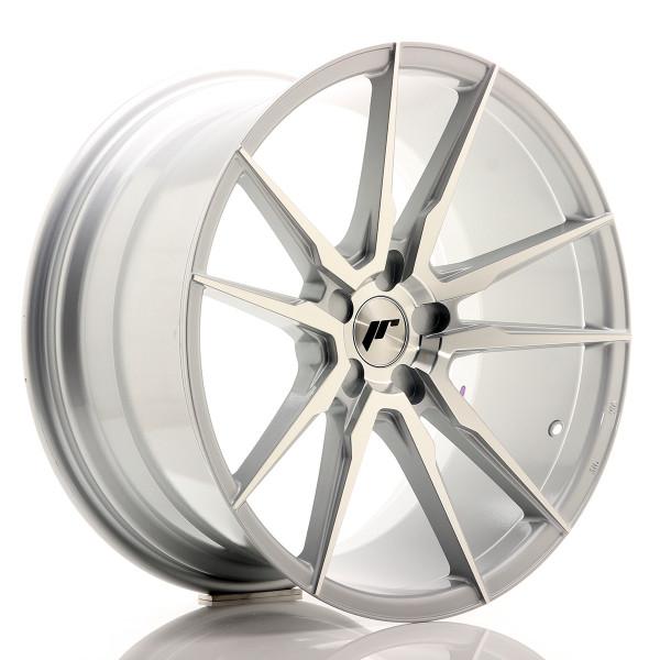 JR Wheels JR21 20x10 ET20-40 5H BLANK Silver Machined Face