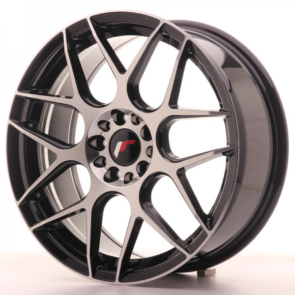 JR Wheels JR18 18x7,5 ET40 5x112/114 Gloss Black Machined Face