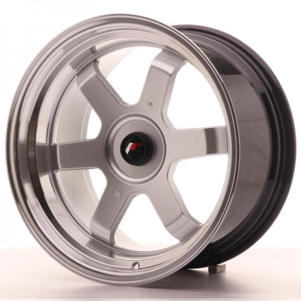 JR Wheels JR12 17x9 ET25 BLANK Hyper Silver w/Machined Lip