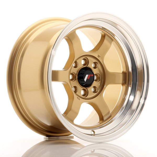 JR Wheels JR12 15x8,5 ET13 4x100/114 Gold w/Machined Lip